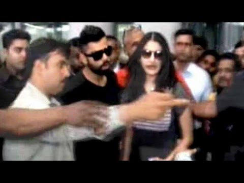 Anushka – Virat Hug Each Other at Kolkata Airport